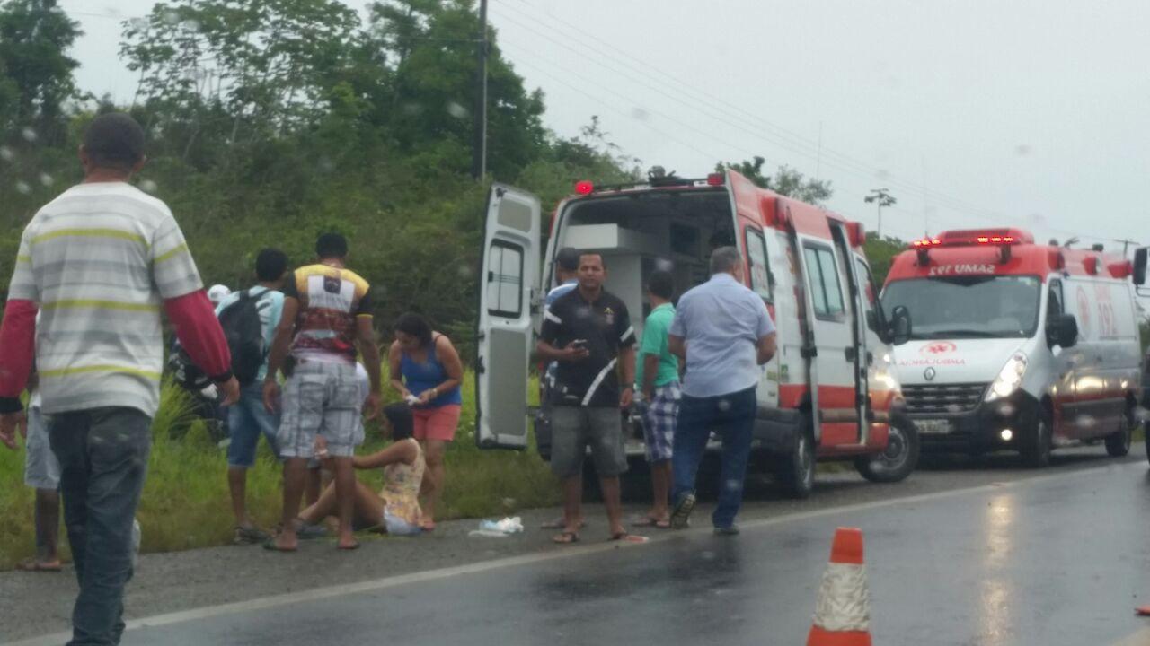 Sergipe – Onze pessoas ficam feridas em acidente com micro ...