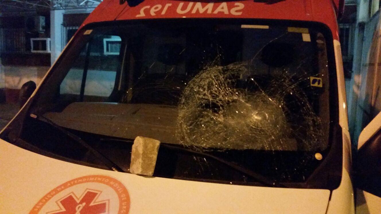 Sergipe – Ambulância do SAMU é alvo de vândalo na capital – A8 ...